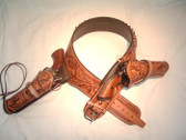 Morgans Drop Loop Buscadero Gun Belt with added Cross Draw Holster