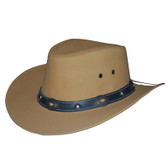 Nubuk Cowhide Leather Cowboy Hat