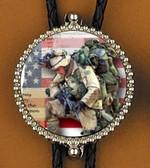 Patriotic Soldier Bolo Tie