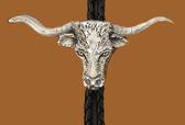 Pewter Longhorn Bolo Tie