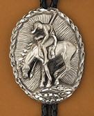 Pewter End Of the Trail Bolo Tie