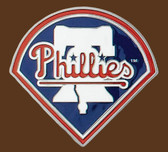 "Philadelphia Phillies MLB Belt Buckle  3"" x 2-3/4"""