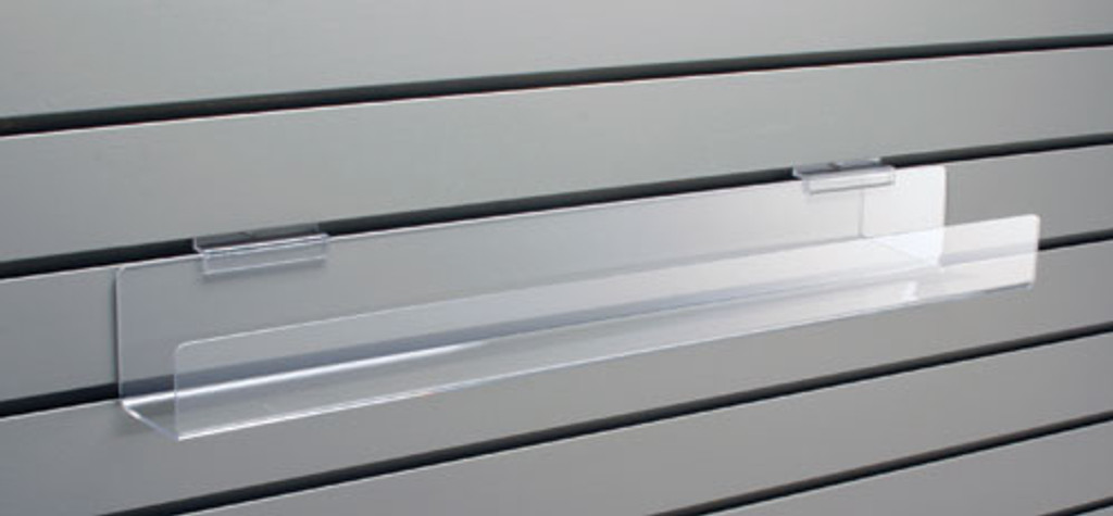 Flat Shelf with Lip for Slatwall (choose size)