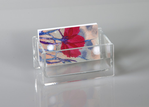 clear acrylic business card holder