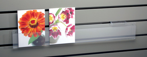 Slatwall card strip, one deep for trade shows;