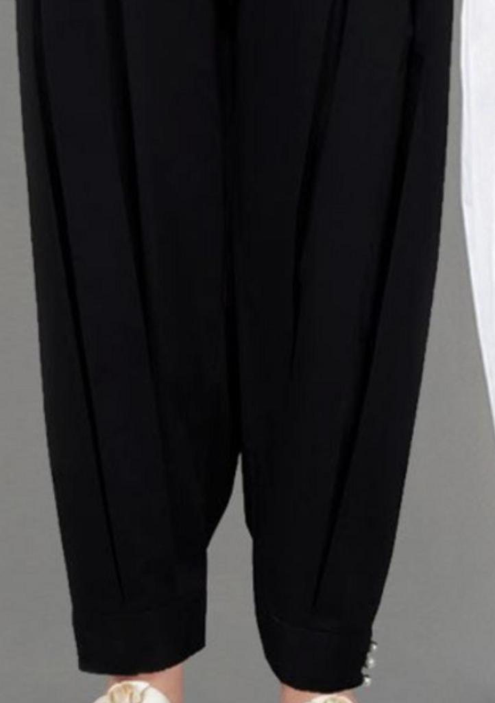 Black bubble pant