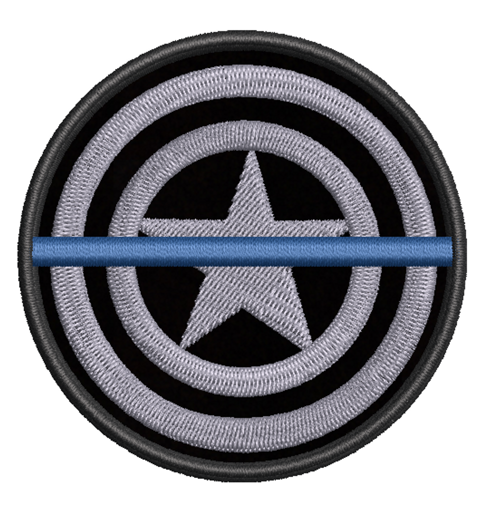 Captain america Thin blue line Patch in swat colors
