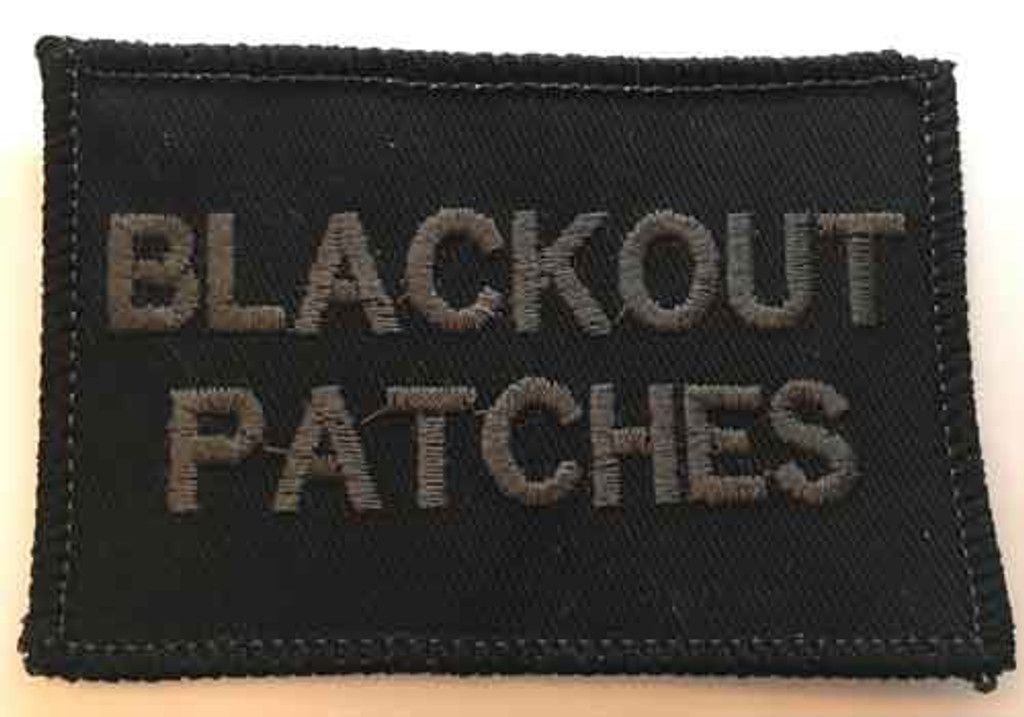 Add your own lettering to this awesome blackout custom patch