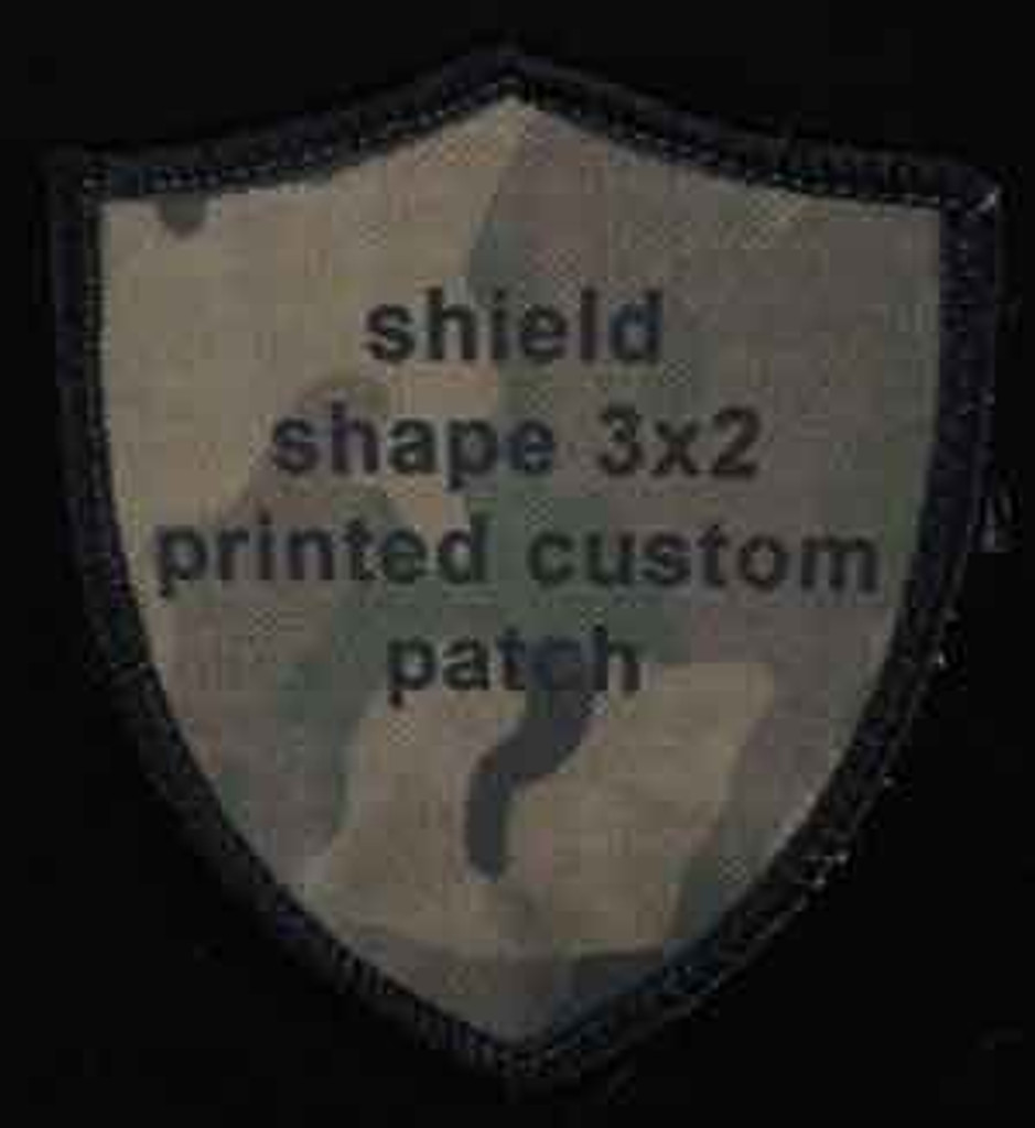 Printed Custom Patch 2x3 shield shaped
