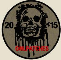 custom team morale patch blood skull on OD