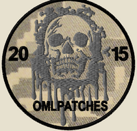 custom team morale patch blood skull on ACU material