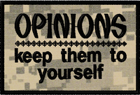 Opinions:  Keep them to yourself morale patch in ACU material. #moralepatch #patches # oml