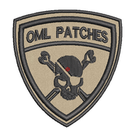 Team Template Pirate Patch in tans with black thread