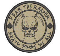 fear the reaper tans with black stitching (by request)