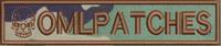 merrowed nametape with skull onwoodland