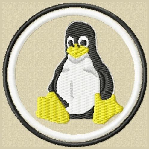 Tux Penguin Patch in Tans