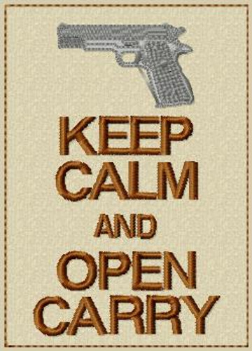 Keep Calm and Open Carry VELCRO® Brand Patch