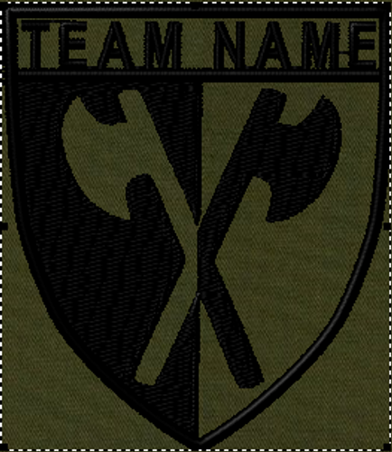 Team patches axe crest