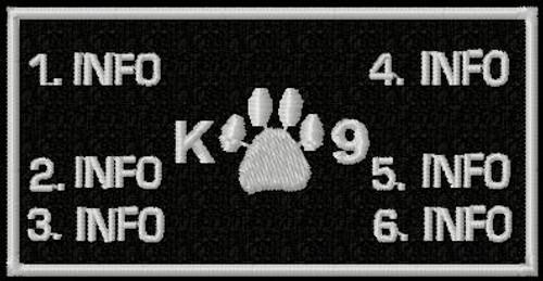 Battlepatch k9 1 paw