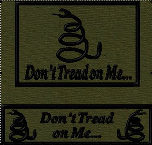 Don't Tread on Me Tactical Hat Patch Combo OD