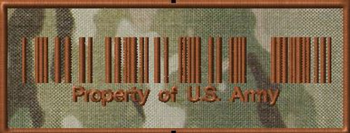 Property of US Army VELCRO® Brand patch