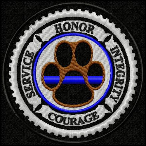 K9 Honor Thin Blue Line Edition VELCRO® Brand Patch