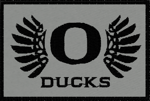 Oregon Ducks Tactical Sports Patch on grey