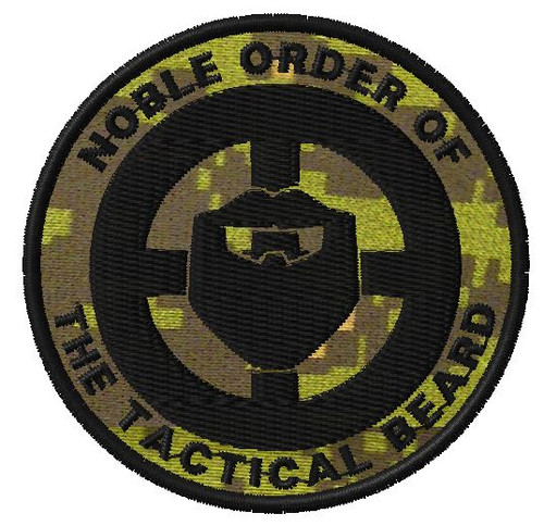 Noble order of the tactical beard VELCRO® Brand patch