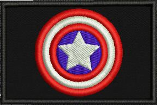 Captain America 2x3 custom patch
