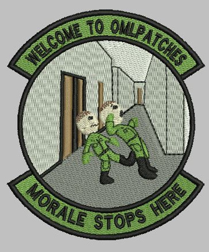 Morale stops here Custom patch