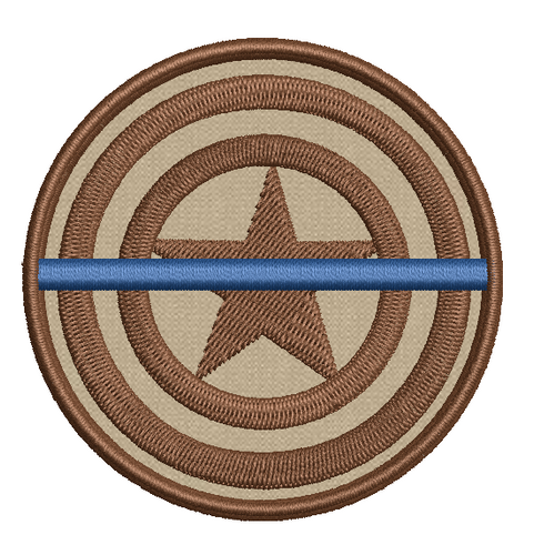 Captain America Thin Blue Line Patch
