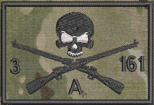 Attack Co 3-161, multicam background, black stitching