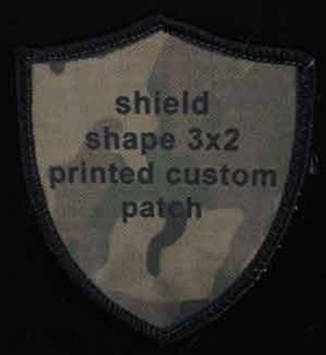 Printed Custom Patch 2x3 shield shaped
