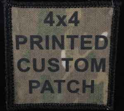 Printed Custom Patch 4x4