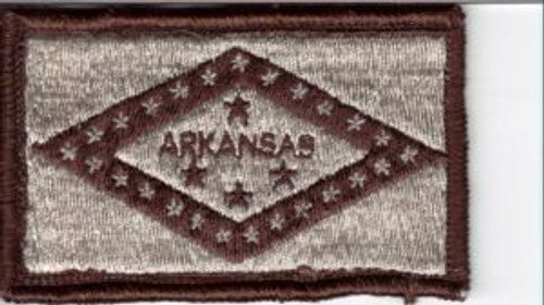 Arkansas Flag Patch tans