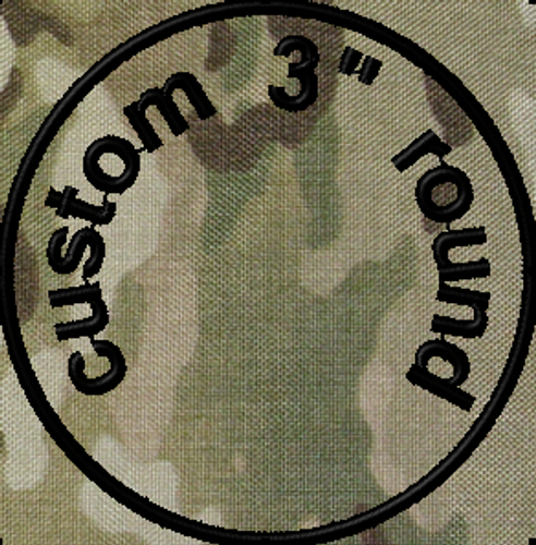 3in Round Custom VELCRO® Brand Patch