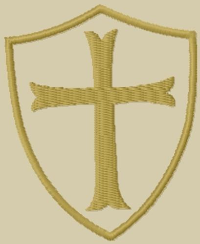 Templar Shield Patch camo back, subdued