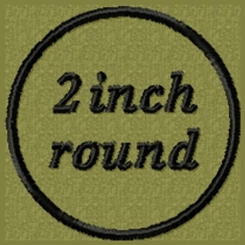 Custom VELCRO® Brand Patch 2 inch round