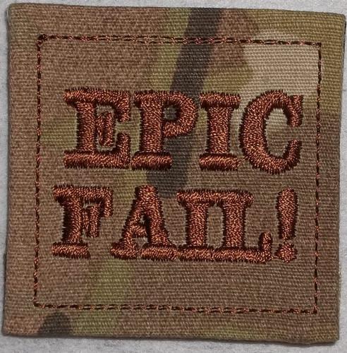 Rank Patch - Epic Fail