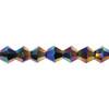 Jet AB 6mm Thunder Polish Bicone Crystals 8732