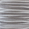1.5mm thick 2mm wide flat silver glitter Microsuede