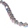 Violet AB 3mm Thunder Polish Bicone Crystals