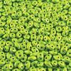 8 Grams 2.5x5mm Metalust Electric Green Superduo Bead