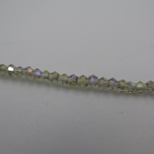 Black Diamond AB 3mm Thunder Polish Bicone Crystals