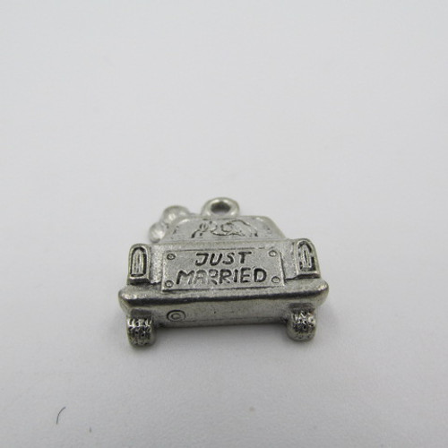 Just Married Car Pewter Charm 3636