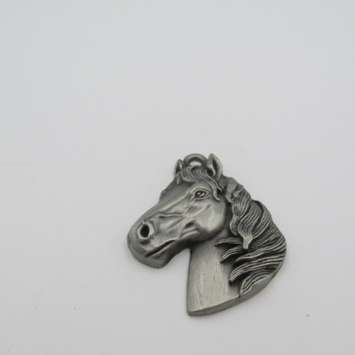42x35mm Pewter Horse Head Charm 177
