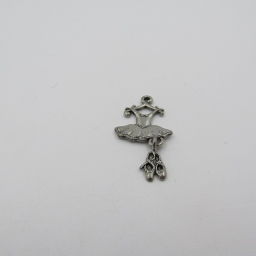 Ballet Dress & Shoes Pewter Charm 7719