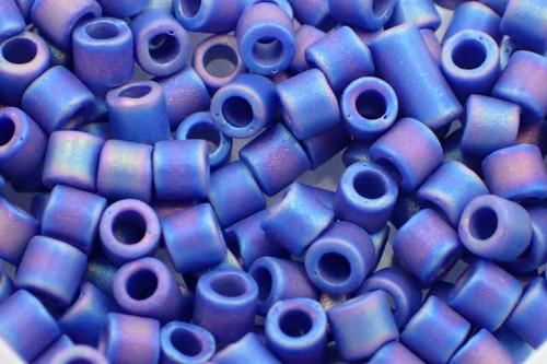 8/0 Matte Opaque Cobalt AB dbl-0880-tb