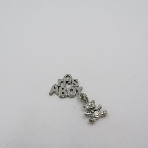 It's a Boy Pewter Charm 3677