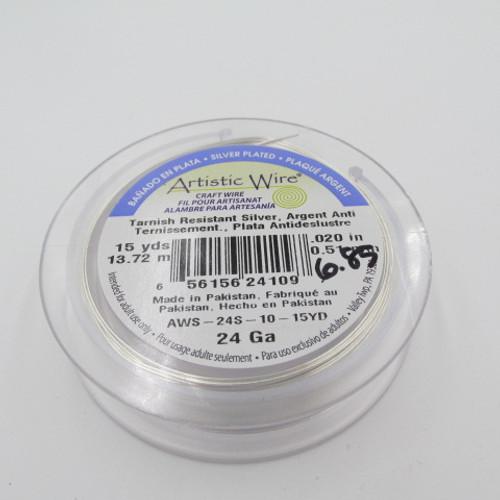 24 Ga. Silver Artistic Wire